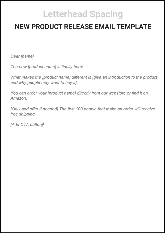 New-product-release-email-template